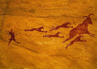Prehistoric Art_Hunting Scene with Dogs
