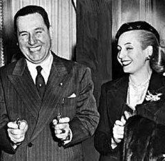 Eva y JD Perón