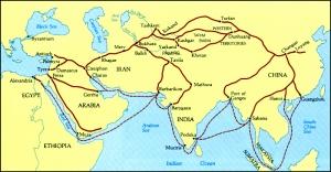 Mapa Ruta de la Seda