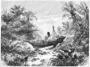 Barco en Telok Betong