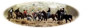 Dragones yankees contra tropas mexicanas en la Batalla de San Pascual.