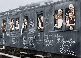 Alemanes en trenes