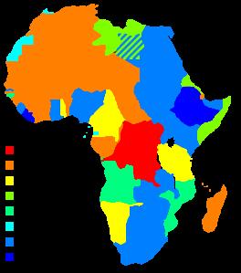 África en 1914