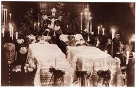 Capilla ardiente de Francisco Fernando y Sofía.