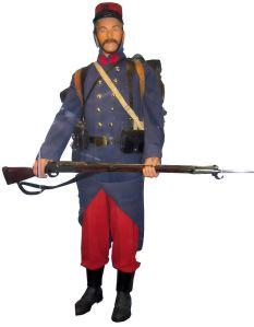 Infantería francesa al inicio de la guerra.