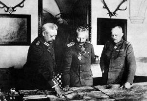 Hindenburg, el Kaiser y Ludendorff