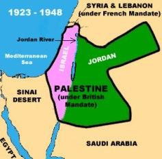 Palestina bajo mandato británico.