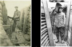 Soldados fotógrafos Smallcombe y Kleinfeldt.