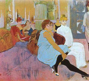 Salón de la Rue des Moulins. Toulouse-Lautrec 1894).