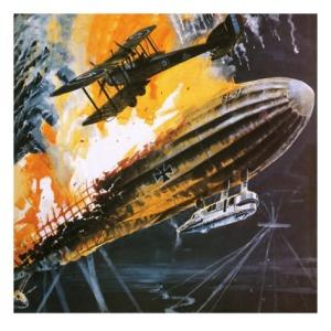 Zeppelin derribado sobre Londres