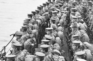 ANZACs listos para desembarcar