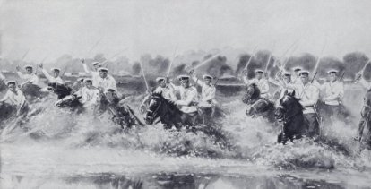 Carga de la caballería rusa  en Gumbinnen.