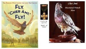 Cher Ami, la paloma que salvó al Batallón Perdido. Héroe condecorado.
