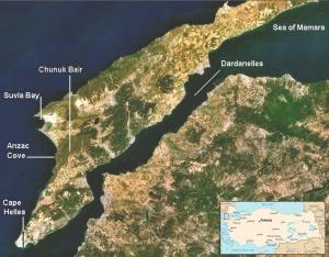 Península de Gallipoli.