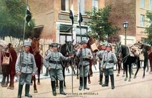 Húsares alemanes en Bruselas.