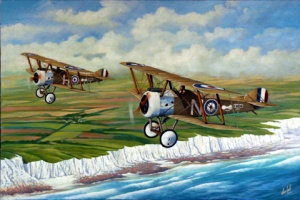 Sopwiths sobre las costas de Dover, por Don Bell.