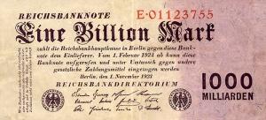 Billete de un billón de Reichsmarks