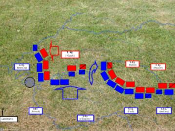 El BEF y el 5º Ejército francés aprovechan la brecha entre el 1º y el 2º Ejércitos alemanes.