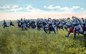 Infantería francesa en 1914.