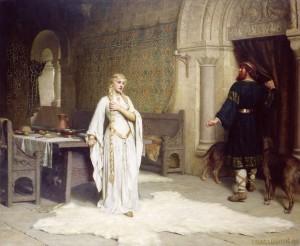 Lady Godiva y Leofric.