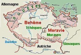 """Mapa de los """"Sudetes""""."""
