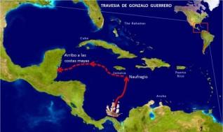 Travesía y naufragio de Gonzalo Guerrero.