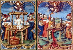 "La ""Pressoir Mystique"" de una Biblia provenzal medieval."