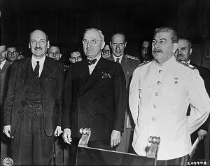 Attlee, Truman, Stalin.