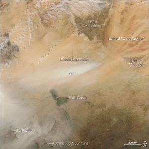 NASA imagen de Lago Chad