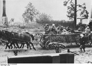 Refugiados de Prusia Oriental.