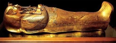 Sarcófago interior de Tutankamon. Museo de El Cairo.