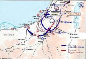 Operación Horev, con el camino romano.