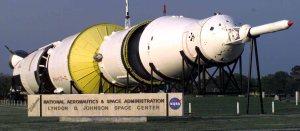 Un Saturn V, en el Centro Espacial Johnson, en Houston, Texas.