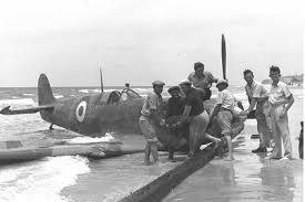 Spitfire egipcio derribado
