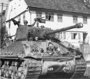 "El tanque Sherman de Lee, ""Besotten Jenny""."