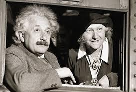 Einstein y Elsa, su segunda esposa.