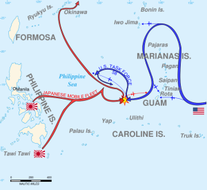 Mapa Batalla del Mar de Filipinas
