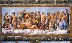 Concilio de los Dioses, de Rafaello.