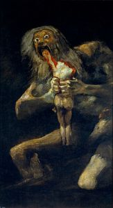 Francisco de Goya, Saturno (Cronos) devorando a su hijo. Museo del Prado.