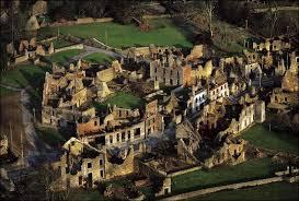 Ruinas de Oradour-sur-Glane en la actualidad.
